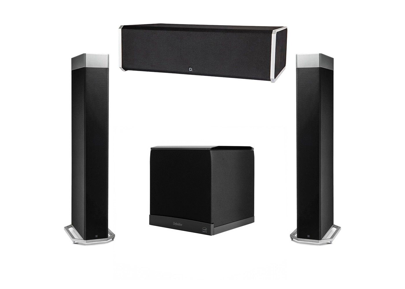 definitive technology 3.1 system with 2 bp9080x tower speakers, 1