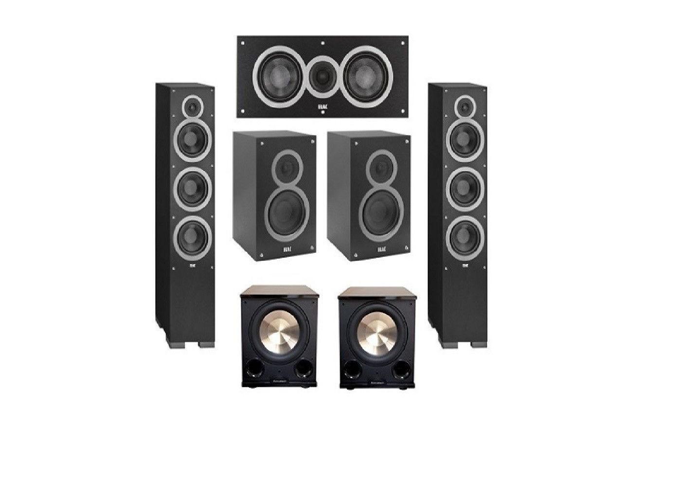 Elac 52 System With 2 Debut F6 Floorstanding Speakers 1 C5 Center Speaker B5 Bookshelf