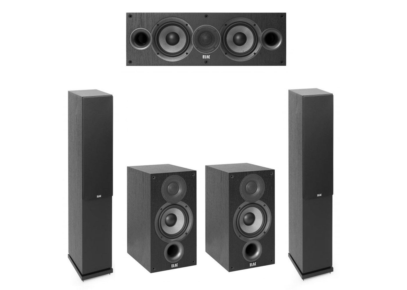 Elac 5 0 System With 2 F5 2 Floorstanding Speakers 1 C5 2 Center