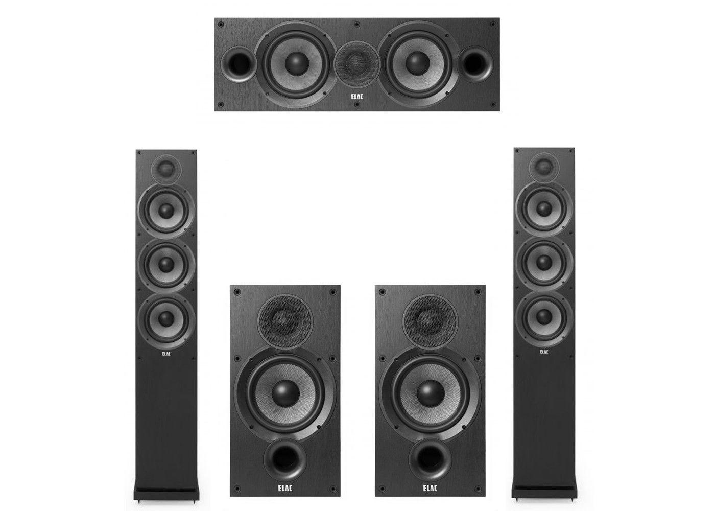 Elac 50 System With 2 F62 Floorstanding Speakers 1 C62 Center Speaker B62 Bookshelf