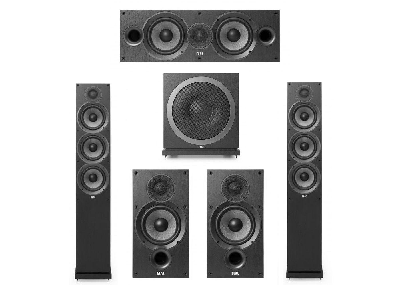 Elac 51 System With 2 F62 Floorstanding Speakers 1 C62 Center Speaker B62 Bookshelf
