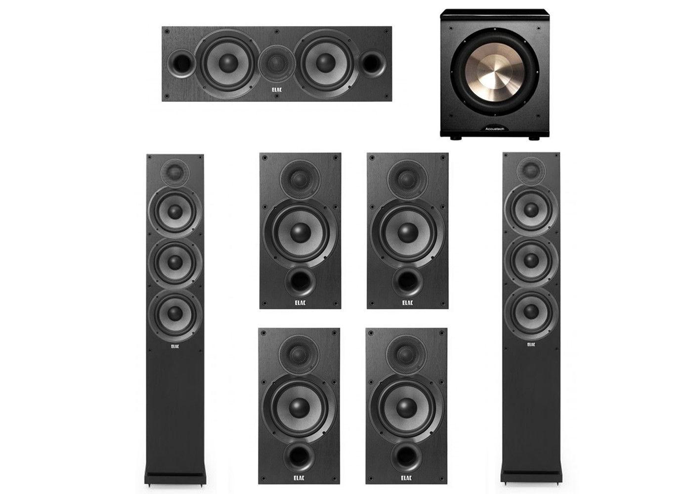 Elac 71 System With 2 F62 Floorstanding Speakers 1 C62 Center Speaker 4 B62 Bookshelf