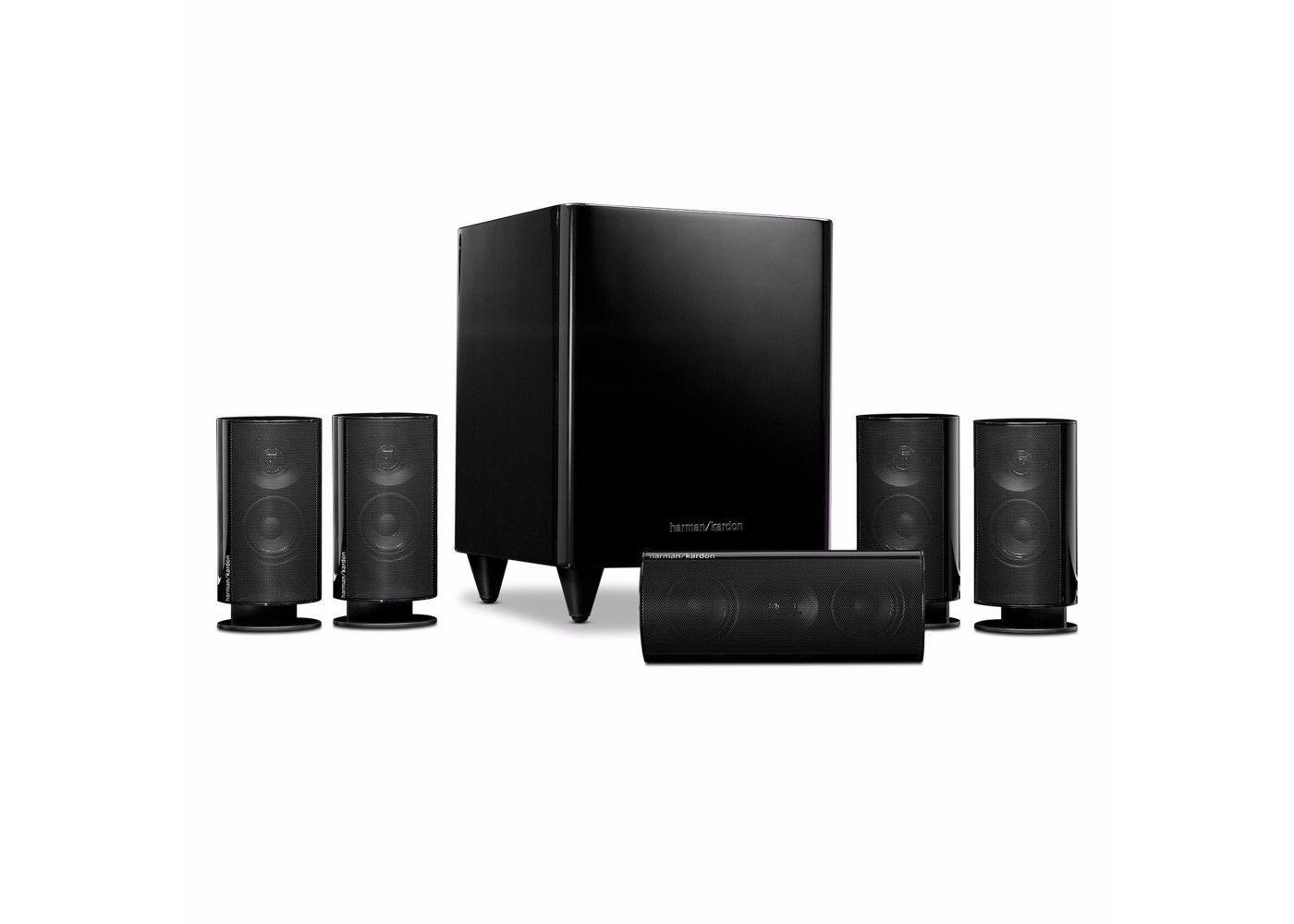 harman kardon hkts 20bq 5 1 home theater speaker system. Black Bedroom Furniture Sets. Home Design Ideas