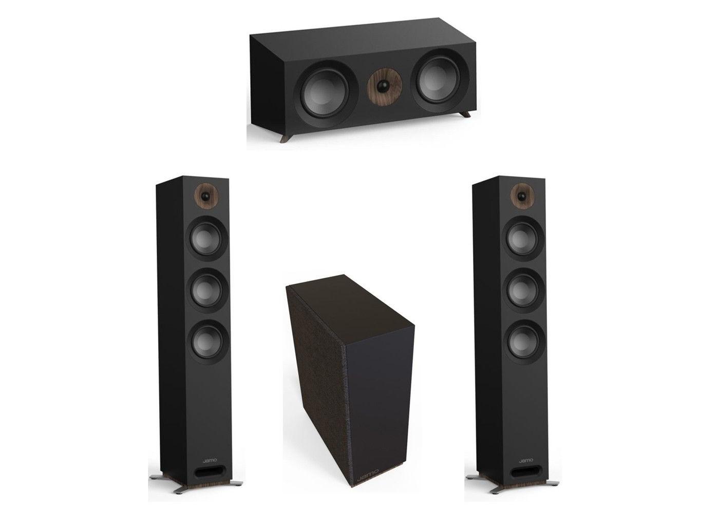 Jamo Studio Series 3 1 System with 2 Jamo S 809 Floorstanding Speakers, 1  Jamo S 81 Center Speaker, 1 Jamo S 810 Subwoofer