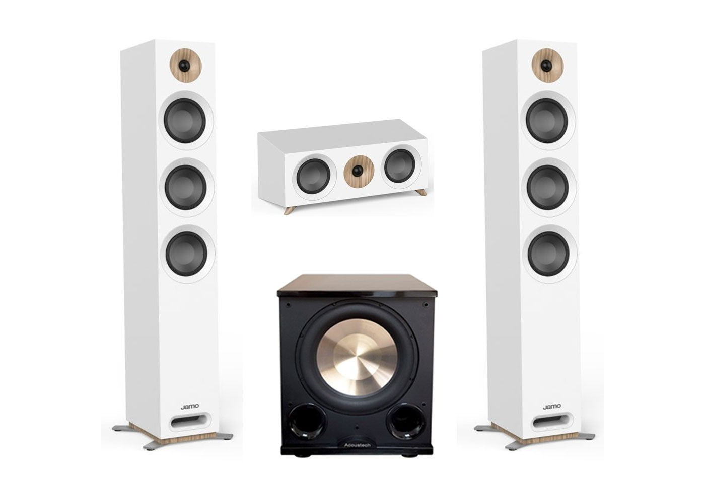 Jamo Studio Series 3 1 White Home Theater System with S 809 Towers and  PL-200II subwoofer