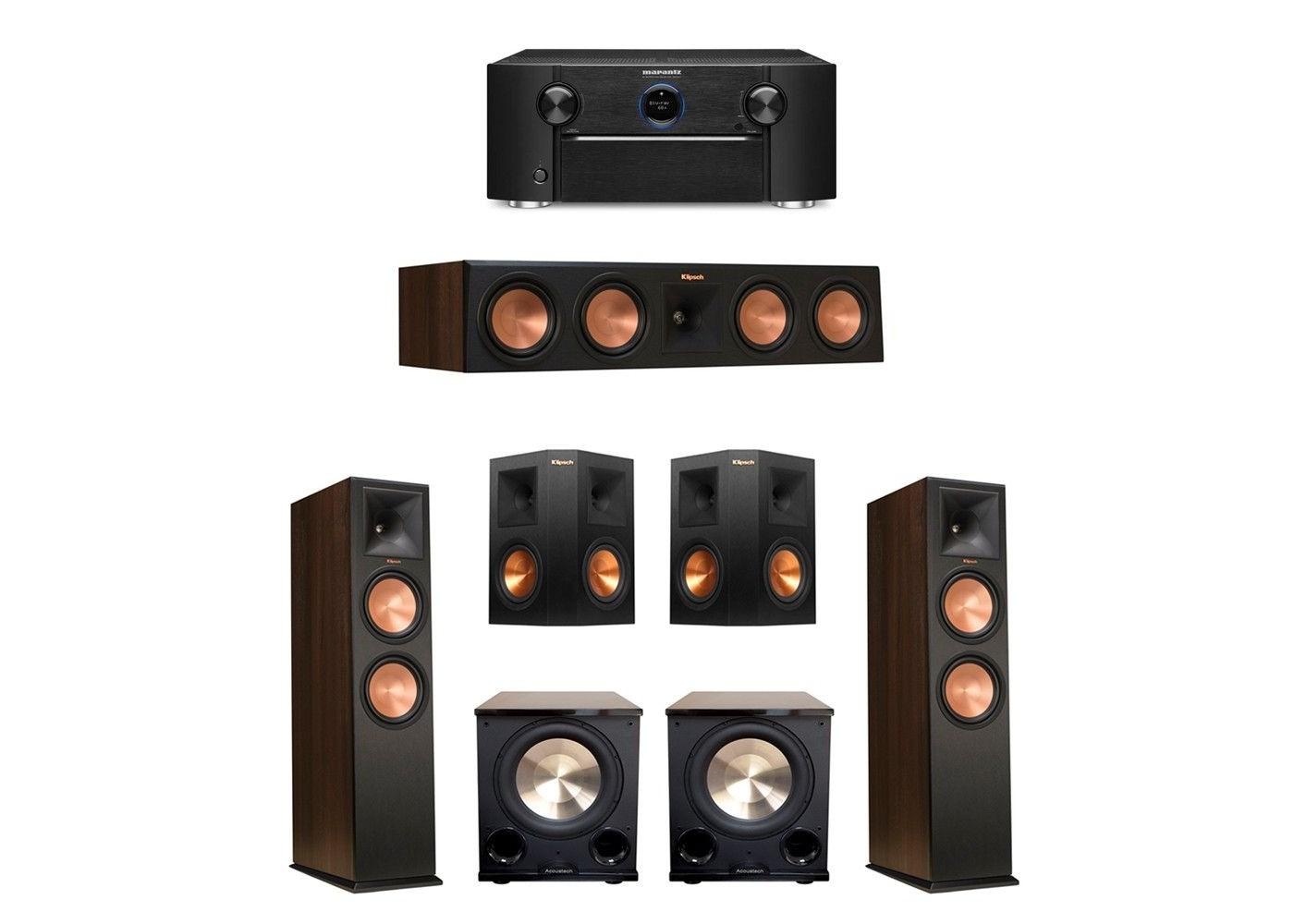Klipsch Surround Sound >> Klipsch 5 2 Surround Sound Home Theater System Walnut