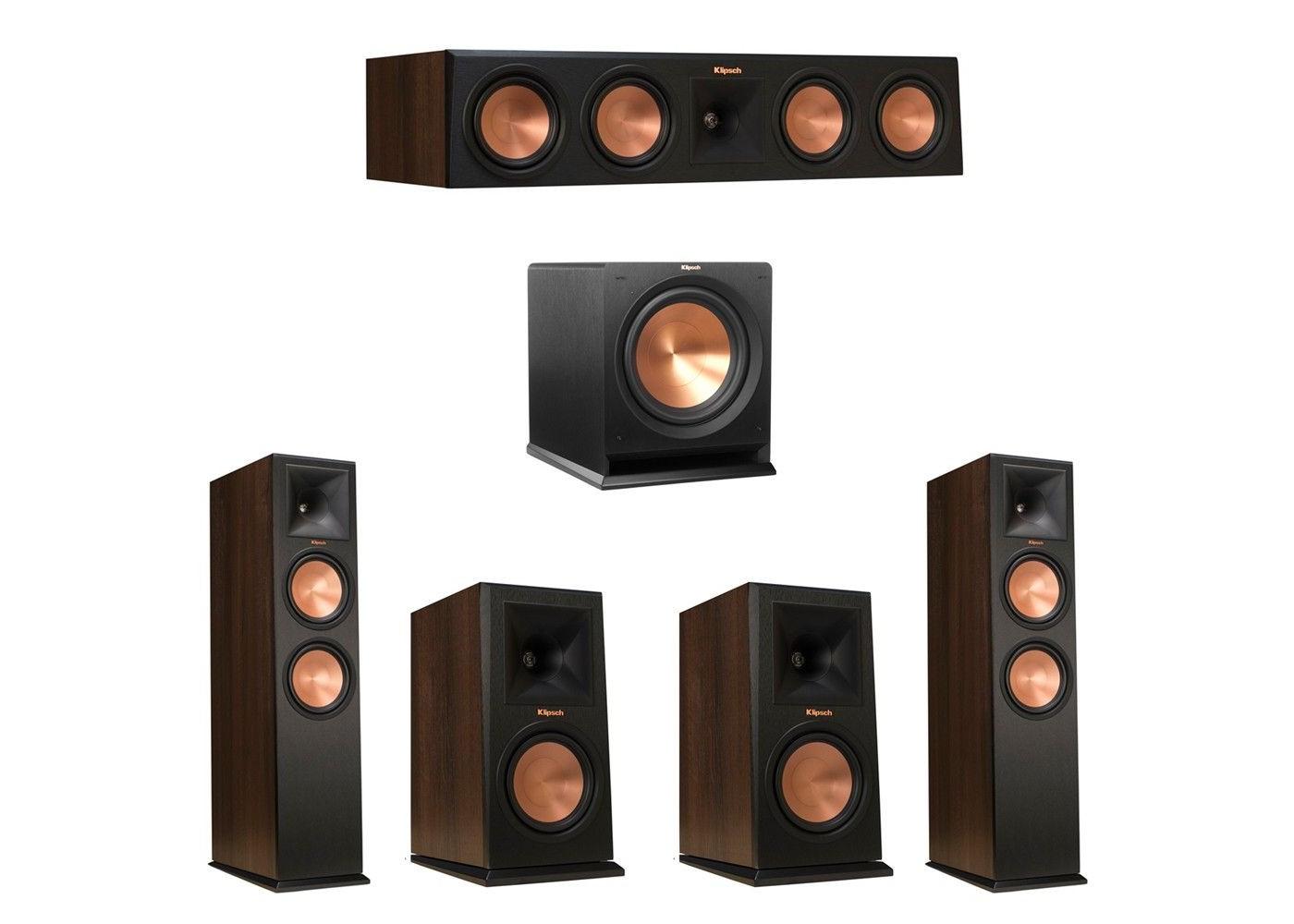 Klipsch 51 Walnut System With 2 RP 280F Tower Speakers 1 450C Center Speaker
