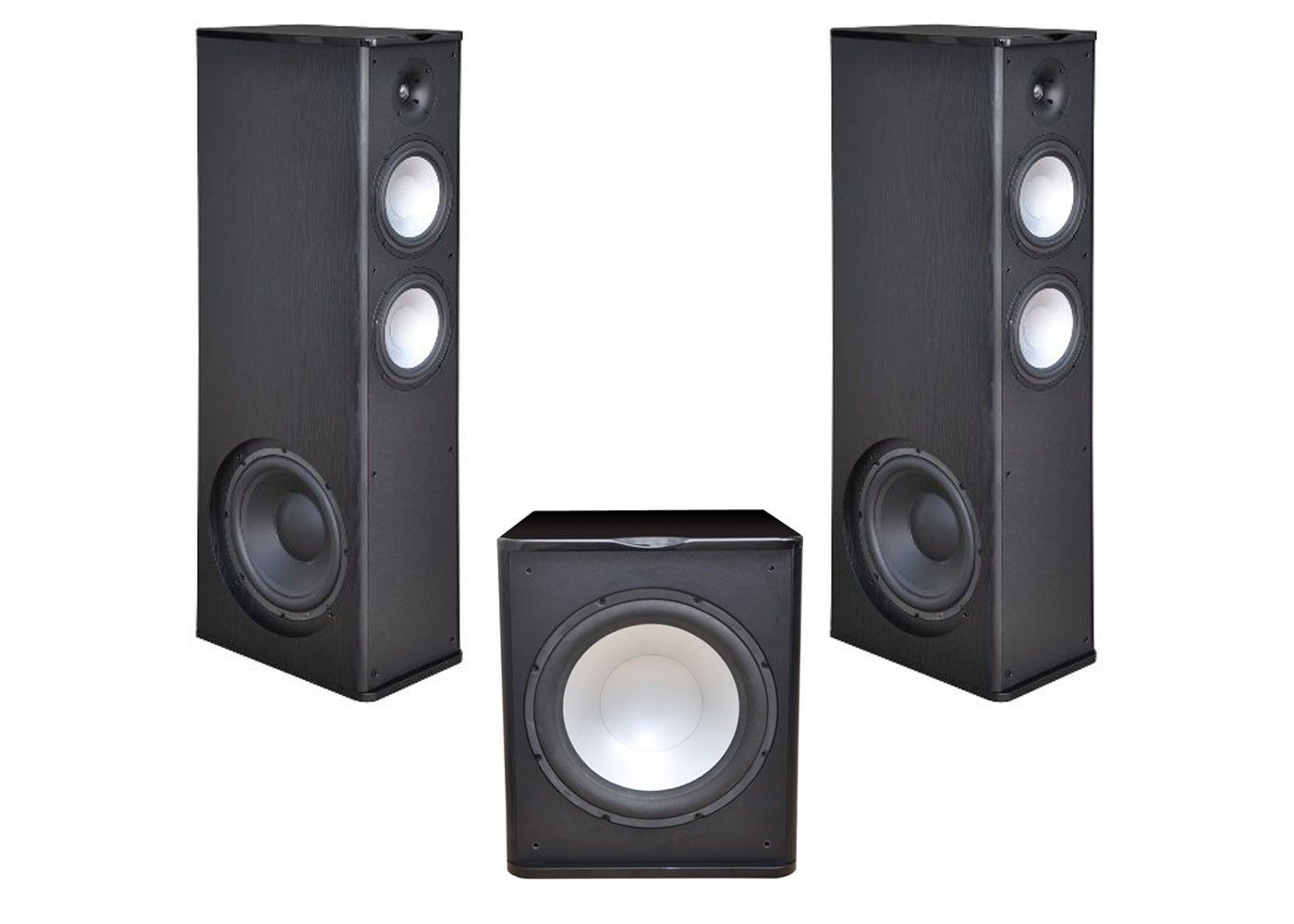 2 Premier Acoustic PA-8 12 Tower Speakers with 1 PA-150 15-inch Subwoofer