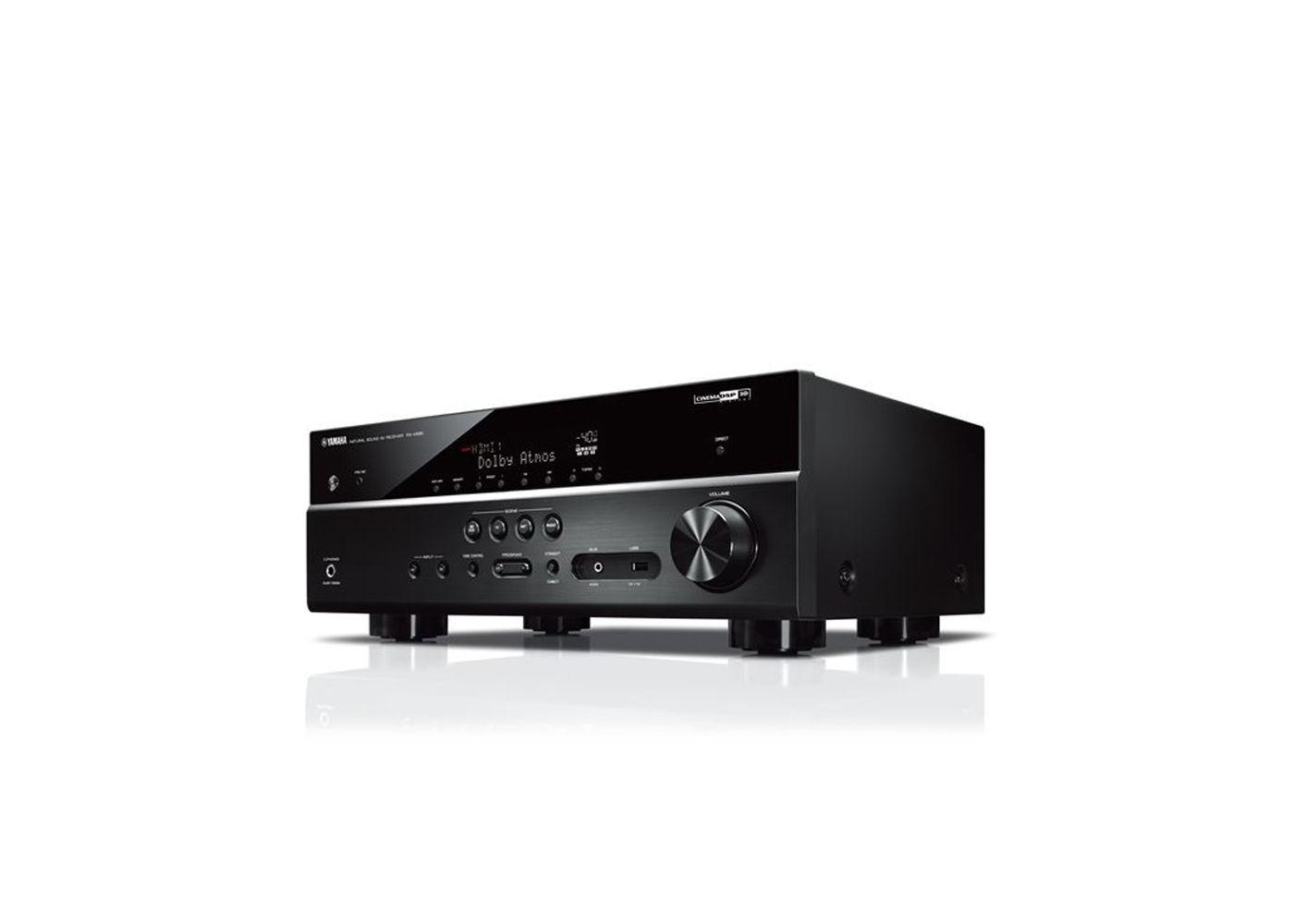 yamaha rx v585 black 7 2 channel a v receiver with musiccast. Black Bedroom Furniture Sets. Home Design Ideas