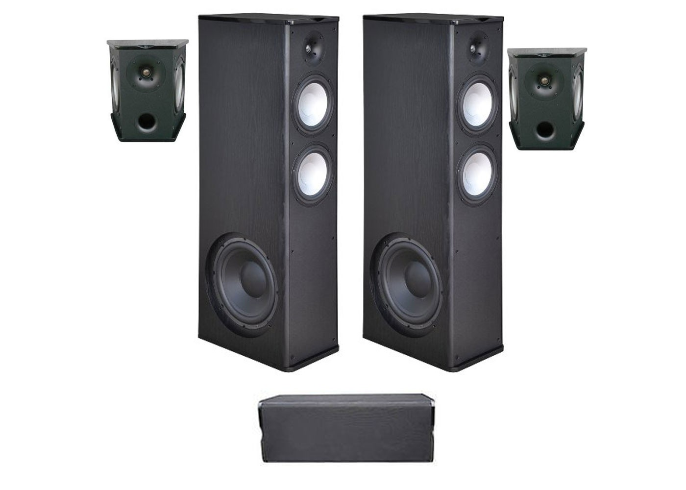 Premier Acoustic 5.0 Home Theater System Bundle with 2 PA-8.12 Tower Speakers, 2 PA-8S Surrounds, and 1 PA-8C Center Channel Speaker