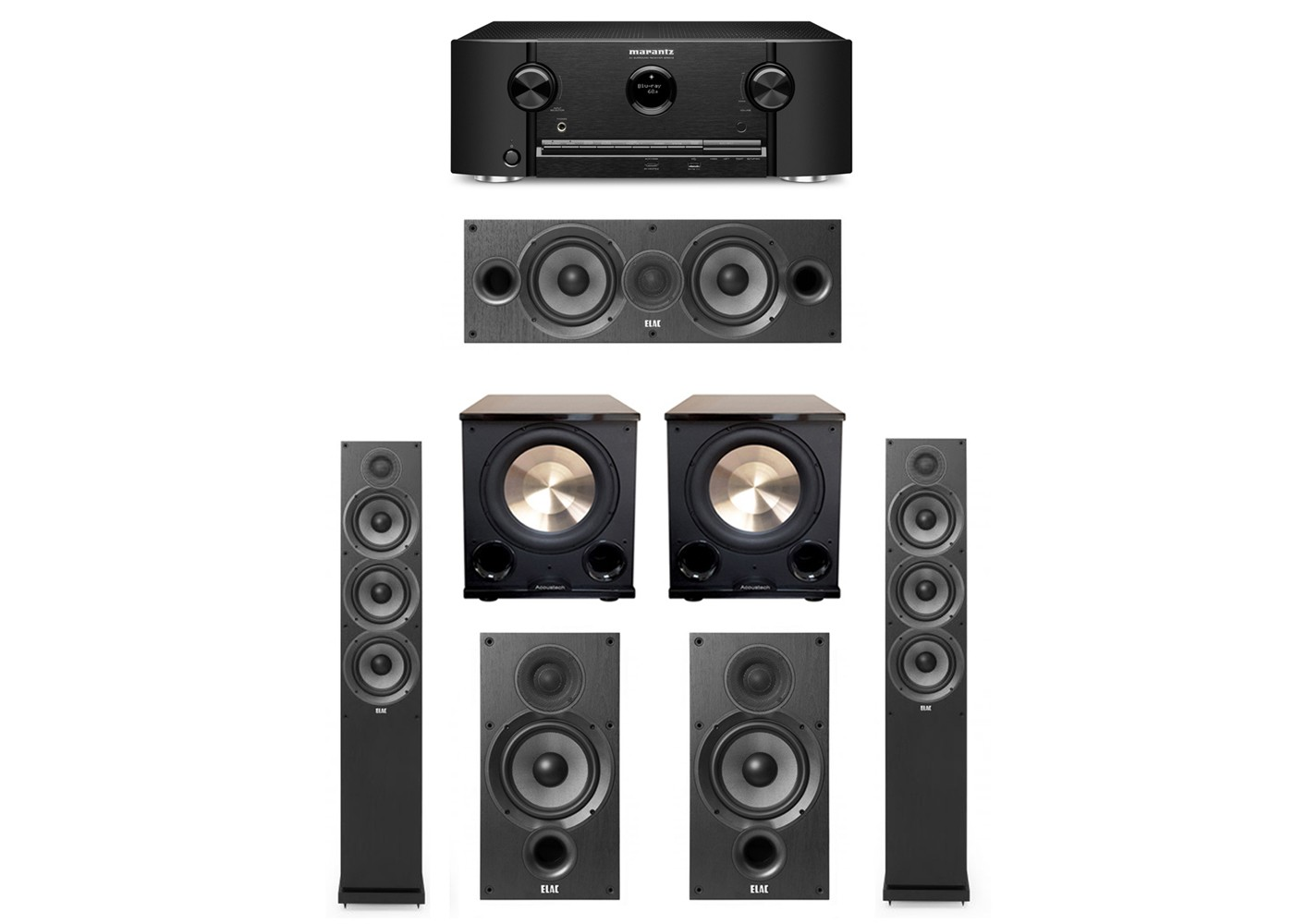 Elac Debut 5 2 System With 2 F6 2 Tower Speakers 1 C6 2 Center