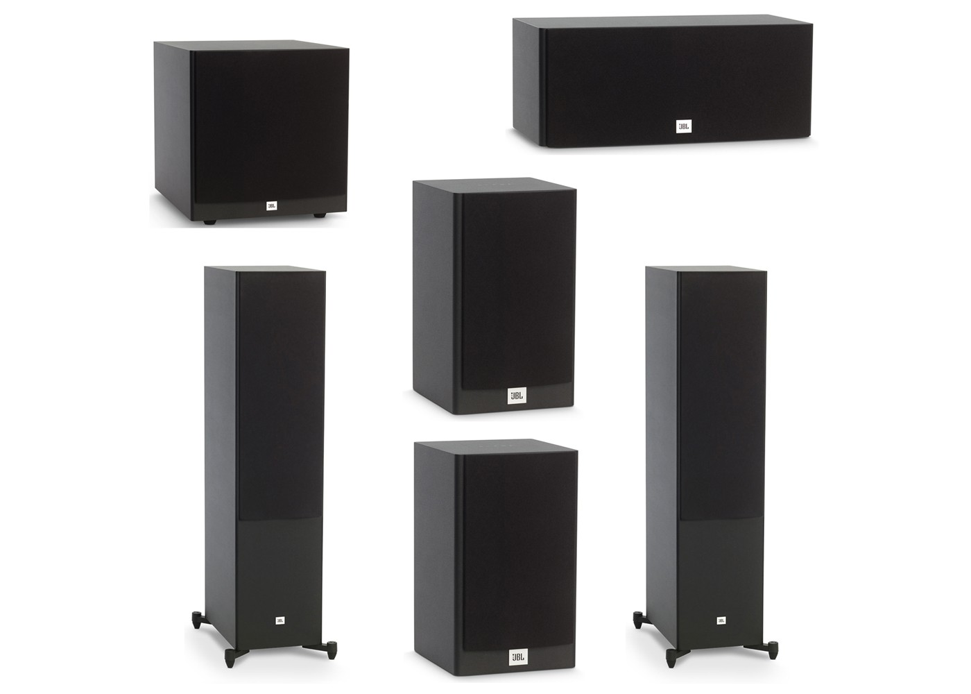 Jbl 5 1 System With 2 Jbl Stage A190 Floorstanding Speakers 1 Jbl