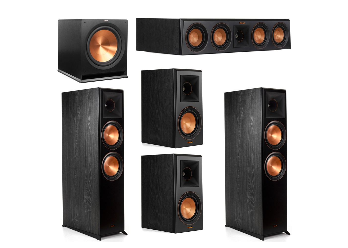 Klipsch Surround Sound >> Klipsch 5 1 Surround Sound Home Theater System For Sale