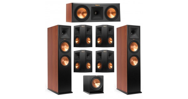 Klipsch 7 1 Cherry System With 2 Rp 280f Tower Speakers 1