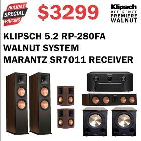 Klipsch RP-280FA Walnut System