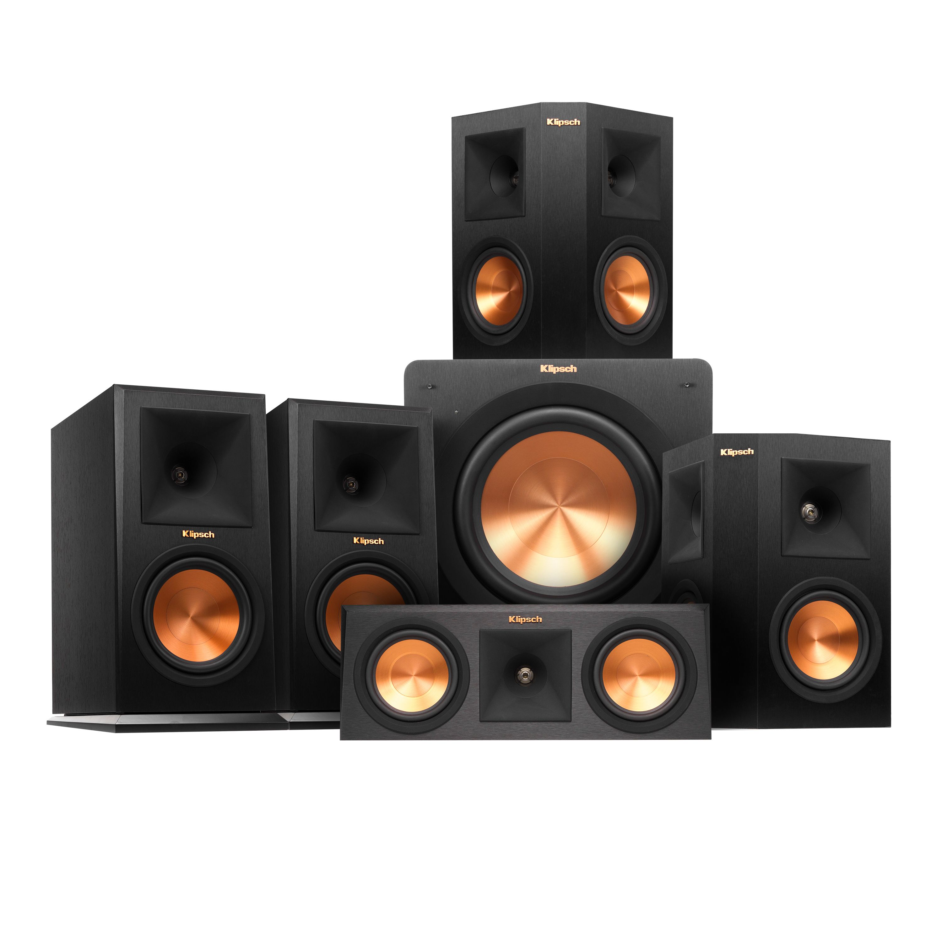 Speaker Systems  with Wireless Speakers Type, Black Color